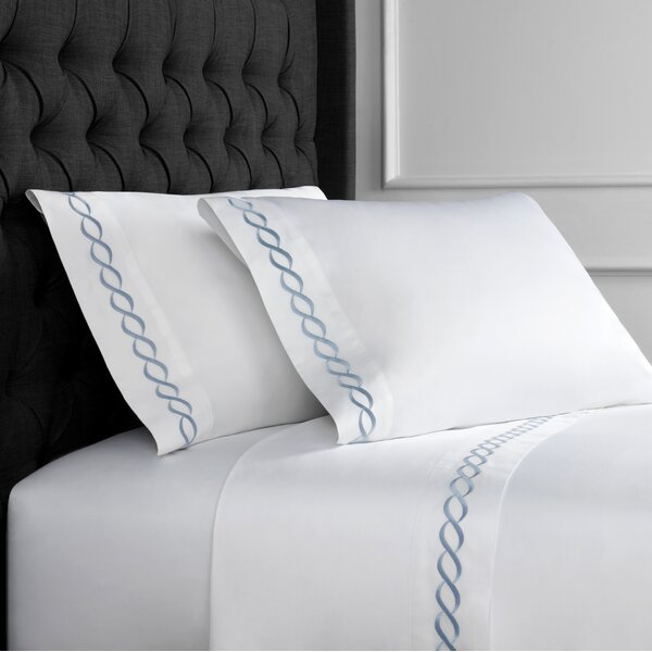 Jodie Rope Embroidered 600 Thread Count 100% Cotton Sheet Set by Darby Home Co